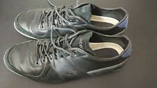 Lacoste Mens Trainers Leather/Suede Black/Green Size UK9/43 Gd condition