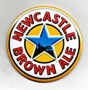 "Newcastle Brown Ale Jumbo Fridge Magnet Beer Mat Bar  3"" 75mm blade Sub pub"