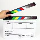 Color Strip Film Slate Clapper Movie Slate Clapboard fr 4K SLR Camera Production