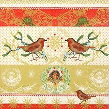 4x Tovaglioli di carta per Decoupage Decopatch Craft Hello Robin