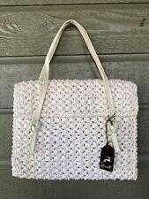 Vintage Koret White Woven Purse Handbag w/ Hang Tag