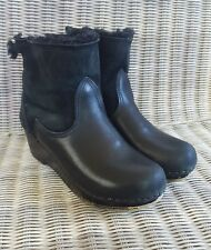 No. 6 Clogs Black Shearling Boots 40