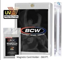 1 BCW Brand One Touch 360 Pt. Magnetic Super Thick Card Storage Holders
