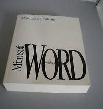 MICROSOFT WORD 2.0 MANUALE UTENTE 1992 perfetto!
