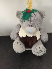 RARE ME TO YOU SOFT TATTY TEDDY BEAR XMAS TREE HANGING DECORATION - PUDDING