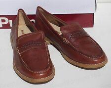Ladies Hush Puppies AUBREE CHARDON Slip On Moccasin Loafers Shoe Brown Grey UK 6