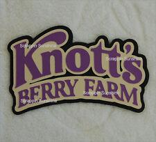 KNOTTS BERRY FARM Theme Park Die Cut Title Scrapbook Page Paper Piece - SSFFDeb