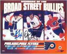 "Gary Dornhoefer, Dave Schultz Autographed Phila Flyers 8""x10"" Photo w/COA Cert."