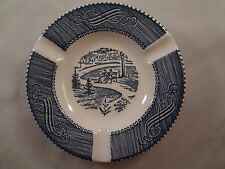 """Currier Ives  Ashtray """"In the Park"""" 5 3/8"""" Free Shipping"""