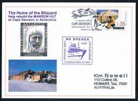 Antarctica • Australia • 2009 • Postcard • Cape Denison / MS Bremen / Mawson Hut
