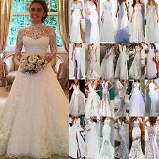 Damen Hochzeitskleid Abendkleid Brautjungfern Cocktailkleid Party Ballkleid Weiß