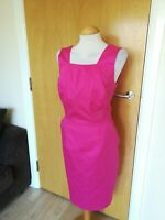 Ladies TU Dress Size 16 Pink Shift Wiggle Smart Party Office Work