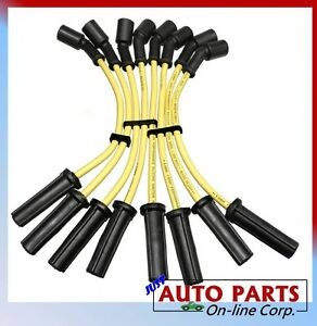SPARK PLUG IGNITION WIRES SIERRA YUKON TAHOE Silicone MADE IN USA 4.8L 5.3L 6.0L