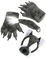 Wolf Animal Set with Mask, Tail & Paws