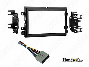 95-5812 Double-Din Radio Install Dash Kit & Wires for Ford, Car Stereo Mount