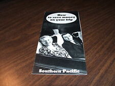 SOUTHERN PACIFIC HOW TO SAVE MONEY ON YOUR TRIP BROCHURE