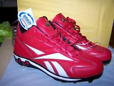 REEBOK BASEBALL CLEATS-METAL MLB COLLECTION-RED- SZ 13