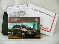 VAUXHALL ANTARA SERVICE BOOK HANDBOOK & WALLET PACK - 2011 To 2016