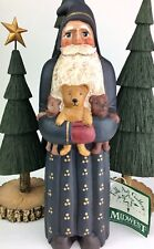 """Randy Tate Folk Art Santa Midwest of Cannon Falls Gallery Collection 10"""" Nos"""