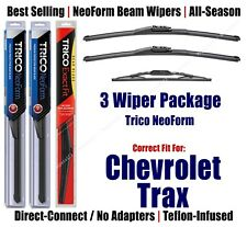3-Pack Wipers Front & Rear NeoForm - fit 2013+ Chevrolet Trax - 162515x2/10-1
