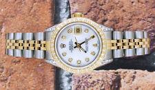 Ladies Steel & Gold White MOP Diamond Dial, Bezel & Shoulders Rolex Datejust.