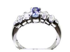 0,84ct Bague Tanzanite & Diamant en 18K Or Blanc