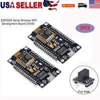2pcs ESP8266 Serial WIFI Wireless Module CH340 NodeMcu V3 Lua Development Board