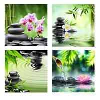 5D DIY Full Drill Diamond Painting Bamboo Stone Cross Stitch Embroidery Kit