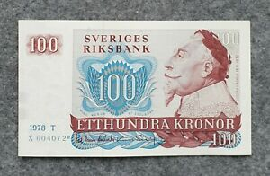 SWEDEN 100 KRONOR 1978 (* STAR) REPLACEMENT UNC
