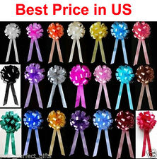 "20 pcs 8"" Pew Bows Christmas Gift Wrap Holiday Party Wedding Pull Pew Bows Chair"