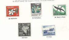 Nauru 1963 Pictorial's set 5 Mint Hinged sold as per scans