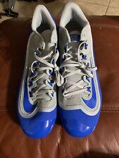NEW MEN'S NIKE HUARACHE 2KFILTH PRO LOW BASEBALL METAL CLEATS  GREY BLUE SIZE 15