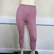 George Ladies Red White Checked Pattern Stretch Leggings Pants UK Size 16
