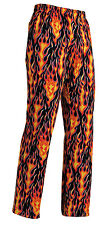 PANTALONI CUOCO COULISSE FLAMES 100% COTONE PIZZAIOLO EGOCHEF CHEF PANTS БРЮКИ