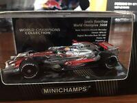 Minichamps 1:43 Mclaren MP4/23 Lewis Hamilton 2008 F1 World Champion Brazil GP