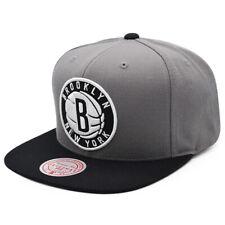 Brooklyn Nets FRESH CROWN Snapback Mitchell & Ness NBA Hat - Gray/Black