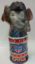 EMPTY Jim Beam Republican Saluting Elephant Ceramic Bottle from 1976
