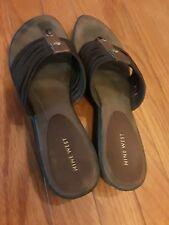 Nine West Women Brown Slip On Slides Sandal Shoe Size 10 M EUR 41 Pre Owned