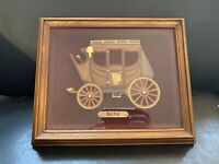 "Wells Fargo & Co. 3D Framed Stagecoach 12 x 10"" Wall Art Hanging Rare - Man Cave"