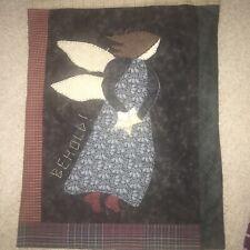 Handmade Angel Patchwork-Style Decorative Throw Pillow Sham/Wall Hanging 16x21