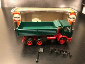 Herpa #806512 Mercedes Green Dump Truck - Scale 1:87 - Die Cast Plastic Model!!