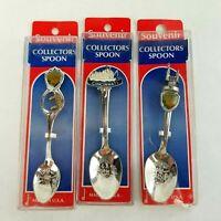State Collector Souvenir Spoons Salt Lake City Cincinnati USA Lot of 3