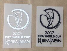 World Cup 2002 Korea Japan Iron On Patch Badge Soccer Shirt Jersey white/Black