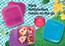 3x Neu TUPPERWARE Clevere Pause, Brotdose 3-fach Einteilung 550ml lila,blau,rosa