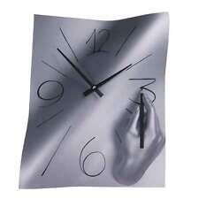 Orologio da muro Amanolibera alluminio e resina decorata a mano 28x38 Made in It