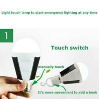 Waterproof LED Solar Light Bulb 7W E27 fo Tent Camping Fishing Recharg Lamp Q0G7