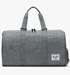 Herschel Supply Co NOVEL Duffle Bag. Gray. Raven Crosshatch 10026-00919-OS