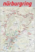 Carte Map Nürburgring Panneau Métallique Plaque Voûté en Étain 20 X 30 CM FA0522