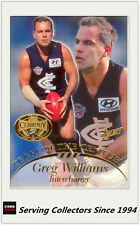 1996 Select AFL Hall Of Fame Team Of The Century Card TC22 Greg Williams