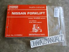 1993 Nissan Forklift Model KHO2 Series Parts Catalog Manual